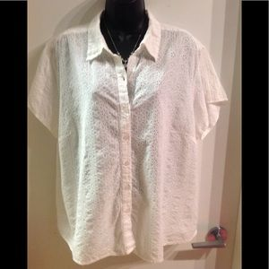 Cotton eyelet Blouse Sz 2X